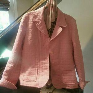 Pink Blazer, Lightly Quilted, Harve Bernard, Sz 6